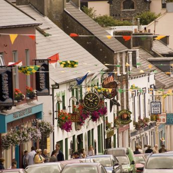 Exclusive holiday rentals on the Wild Atlantic Way - Dingle main street