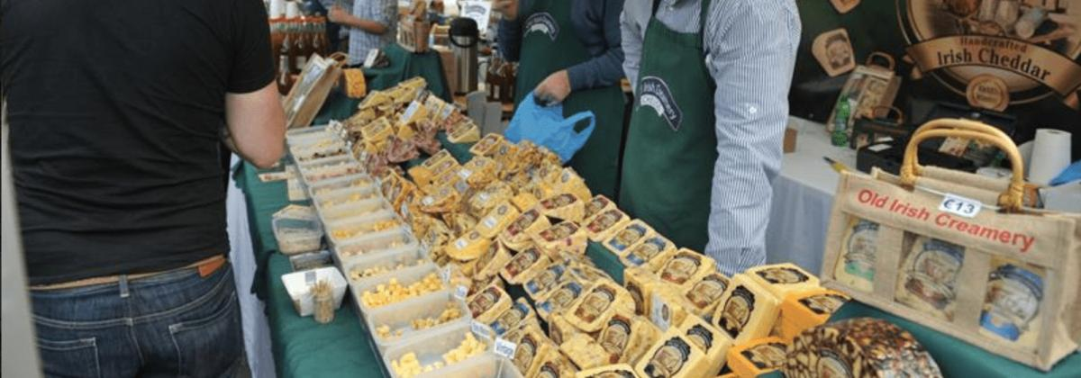 Holiday Lets on the Wild Atlantic Way - Food festival cheese stall